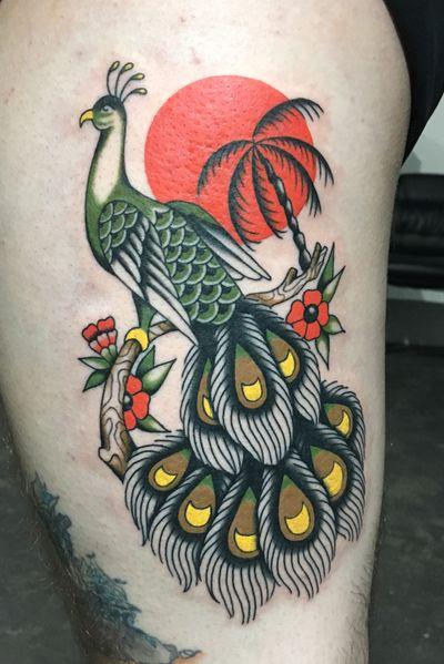 #traditional #AmericanTraditional #americana #peacock #houston #reddaggerdowntown