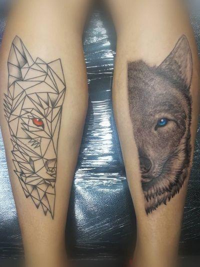 Wolf, complete. Booking on my whatsapp +522223605806 info in bio 🤘🏻🤓 #wolftattoo #tatuaje #tattoo #geometric #texture #blackwork #blackworkers #blackandgraytattoo #lobo #pantorrilla #menwithink #ink #inked #tattooedmen #HybridoKymera #puebla #mexico #tatuadoresmexicanos #tatuadorespoblanos #pueblacity #hechoenmexico #madeinmexico #mexican #tatuadoresmx #mexicotattoo #mexicanpowertattoo #tattoodo #pueblatattoo #tattooinklatino #artinkstasmx @radiantcolorsink @fkirons