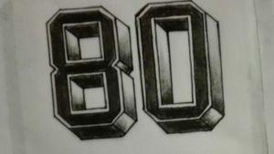 #Football #numbers #3D #drawings