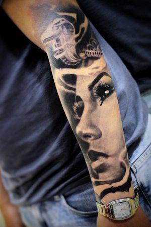 #Onlythebesttattooart #tattoo #ink #cristianrodrigueztattoos #blackandgrey #realism #surrealism #dotwork #ornamental #tribal #gemetric #colortattoo #fuerteventura #cleopatra #Egypt #egyptian