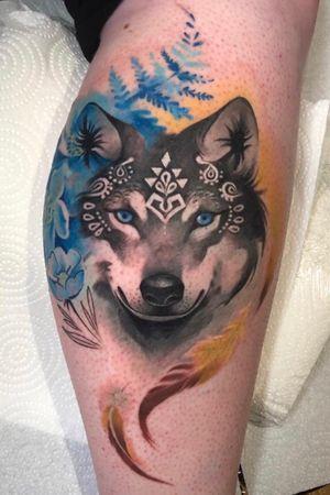 Wolf for Emma. Thanks for Your trust. You sat like a rock! 🧡 @inkablyco Using @eternalink @barber_dts @cheyenne_tattooequipment @yayofamilia tattoo aftercare. . . . #tattoo_awards #tattoolifemagazine #inkably #tattoodo #tattoodoapp #tattoodotcom #theartoftattoing #tattoolifemagazine #tattoolovers #inked #illustration #inkjunkeyz #inkstagram #tattoo2me #tattooflash #londontattoo #italiantattooartist #bestitaliantattooartist #tatuaggio #tatuaje #mujer #wolf #festhertattoo #wolftattoo #watercolour #watercolourtattoo #tribaltattoo #ornamental #girlswithtattoos #inkedup