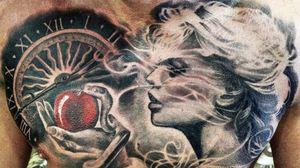 #Onlythebesttattooart #tattoo #ink #cristianrodrigueztattoos #blackandgrey #realism #surrealism #dotwork #ornamental #tribal #gemetric #colortattoo #fuerteventura #eva #snake #temptation