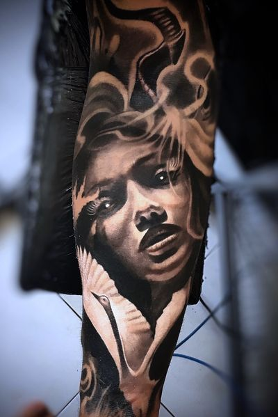#Onlythebesttattooart #tattoo #ink #cristianrodrigueztattoos #blackandgrey #realism #surrealism #dotwork #ornamental #tribal #gemetric #colortattoo #fuerteventura #fantasy #portrait