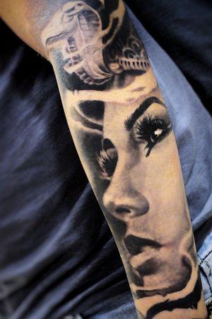 #Onlythebesttattooart #tattoo #ink #cristianrodrigueztattoos #blackandgrey #realism #surrealism #dotwork #ornamental #tribal #gemetric #colortattoo #cleopatra #egyptian