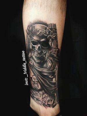 Black and grey realism tattoo