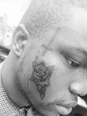 Face tattoo #rosetattoo #tryntattootheworld #tattoocontent #tattoodo #tattoodoer #tattooer #tattooartist #baltimoreink #baltimoretattooartist #inkslinger #inked #hdc1tattooshop #tattoos #tattoosbyH