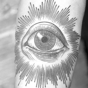 All seeing eye #blackwork #fineline #dotwork