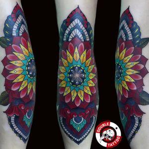 Color mandala tattoo