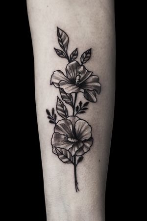 #hibiscus #flower #floral #dotwork #illustrative