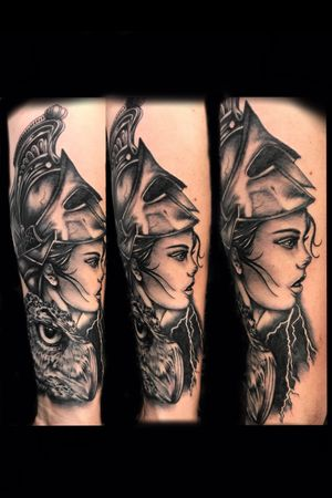 Athena, part of a Ancient Greek sleeve