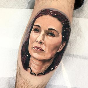 Game of Thrones tattoo by Jordan Baker #JordanBaker #GameofThrones #GameofThronestattoo #GoT #GoTtattoo #HBO #tvshowtattoo #popculturetattoo #theredpriestess #Milesandre