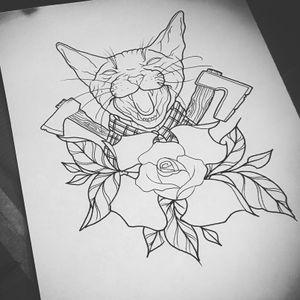 Mad cat sketch