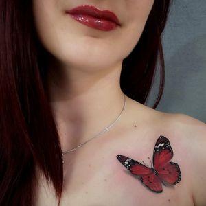 #3D #butterflytattoo #3dtattoo