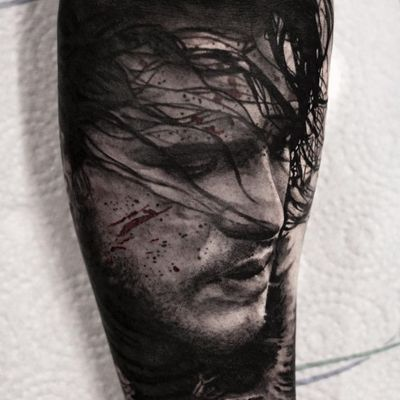 Game of Thrones tattoo by Stefan Tattoos #StefanTattoos #GameofThrones #GameofThronestattoo #GoT #GoTtattoo #HBO #tvshowtattoo #popculturetattoo #JonSnow #realism #blackandgrey