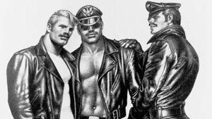 Tom of Finland illustration that inspires Tom of Finland tattoos #TomofFinlandtattoos #TomofFinlandtattoo #TomofFInland #leather #kink #queer #gayculture #leatherdaddy #portrait #men