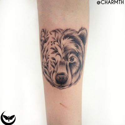 Cute and cuddly oh so lovely, Furry love that's way beyond me, Feel no care more warm and fuzzy like a cub along with mommy. #bear #babybear #baby #cutetattoos #animaltattoos #animalportrait #charmth #sketchytattoo #fineline #illustrative #kawaii #animalspirit #nature #welove #tattoodo #design #custom #tattooph #batangas #forearm