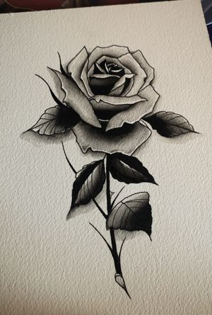 Rose design avaialbe to be tattooed.