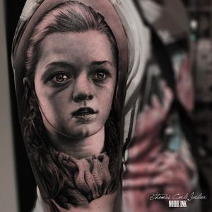 Game of Thrones tattoo by Thomas Carli Jarlier #ThomasCarliJarlier #GameofThrones #GameofThronestattoo #GoT #GoTtattoo #HBO #tvshowtattoo #popculturetattoo #AryaStark