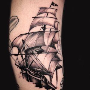 Little ship, part of a leg sleeve.