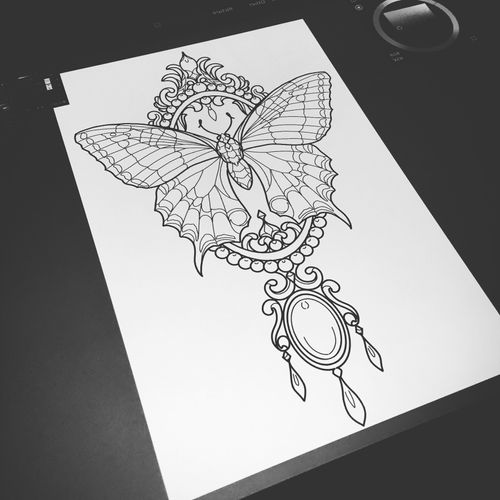 Jewerly butterfly sketch
