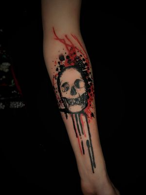 Skull with graphic background