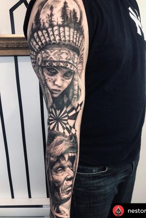 Chwck ut this awesome sleeve by nestor_ace #tattoos #vancouver