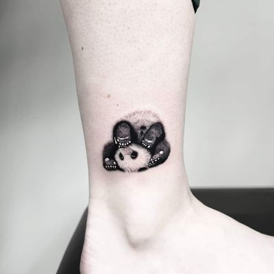 Super cute panda I did on my best friend ❤️🐼 Instagram: @nikita.tattoo #tattooartist #tattooart #blackworktattoo #blackwork #lineworktattoo #LineworkTattoos #linework #thinlinetattoo #fineline #dotwork #dotworktattoo #minimalism #minimalistic #minimalistictattoo #tattooideas #panda #pandatattoo #pandabear #smalltattoo #ankletattoo #stejatattoo #artistnikita