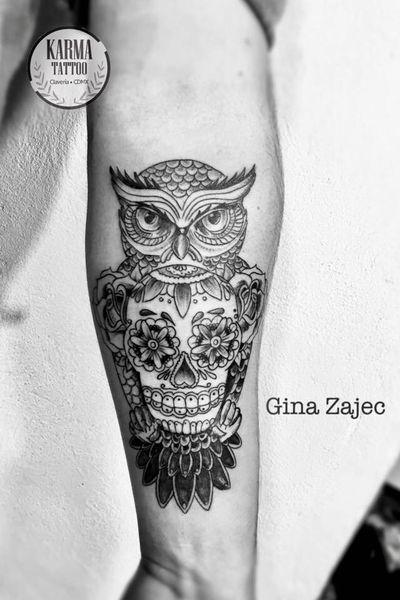 Citas y cotizaciones por email: karmainkcollective@gmail.com o visita nuestro sitio web: karmainkcollective.com CDMX #tattoo #tatuaje #mexicocity #cdmx #ginazajec #karmatattoo #karmatattoomx #tatuajeennegro #blackwork #tatuajemexico #tatuadora #mexicana #blackink #owl #owltattoo #owltattoos #sugarskull #sugarskulltattoo