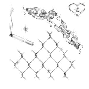 #flash #drawing #blackandgrey #cigarette #chains #shine #ink #inked