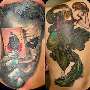 #joker #batman #ace #mucha #backpiece