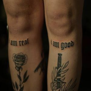 Non electric Hand poke tattoo by Blame Max #BlameMax #handpoke #stickandpoke #nonelectric #linework #illustrative #fineline #lettering #oldenglish #text