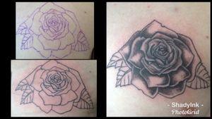 #linework #blackandgrey #rose #stages #shading