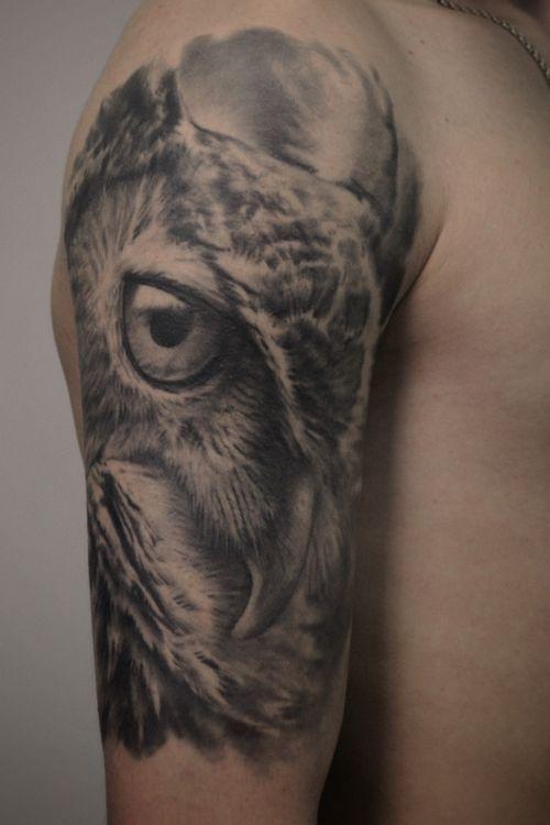 Owl #owl#owltattoo#blackandgrey#blackandgreytattoo