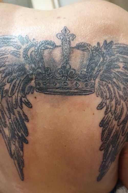 Wings with crown