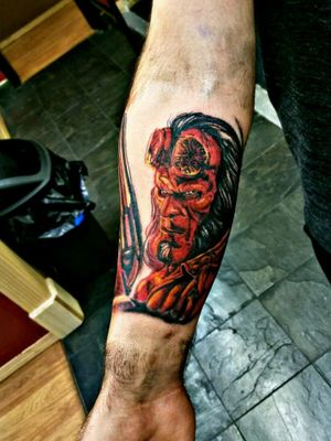 Hellboy 2019 portrait Workhorse and Helios Cartridge Needles Fusion Ink