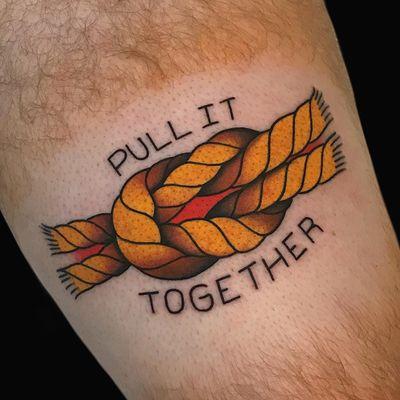 Upper leg tattoo by Alex Zampirri aka AZamp #AlexZampirri #AZamp #letteringtattoos #lettering #text #font #type #calligraphy #script #letters #quotes #words