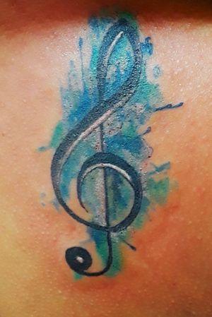 #livoniatattoos #livoniatattooshops #detroittattooartist #musictattoo #musicnotetattoo #watercolor #watercolortattoo