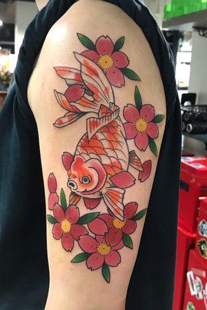 Goldfish and Blossom