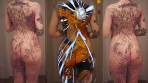 Colour study for this dragon back piece. Always looking to do more japanese pieces. Email mgordontattoo@gmail.com