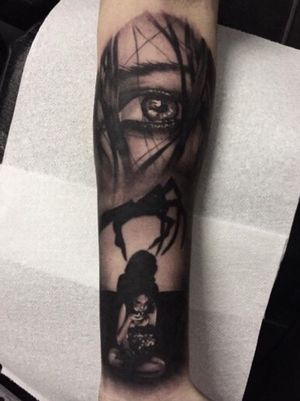 Instagram - amandaleetattoo #horror #realism #eye #eyetattoo #horrortattoo #sleeve #sleevetattoo #blackandgrey #blackandgreytattoo #glasgow #glasgowartist #glasgowtattooartist