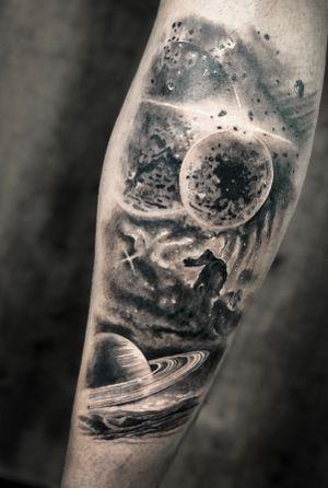 Fantasy on #space #tattooart #tattooartist