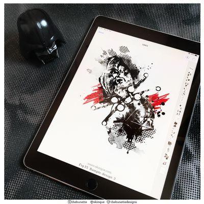 Star Wars Collection✨ www.skinque.com❤️ Follow me on instagram: thebunettedesign or on pinterest: skinque #starwars #starwarstattoo #jedi #r2d2 #Yoda #darthvader #DarthMaul #trashpolka #trashpolkatattoo #watercolor #watercolortattoo #watercolortattoos #watercolour #abstract #abstracttattoo #tattooflash #tattooart #illustrator #blackwork #blackandgrey #blackworktattoo #BlackworkTattoos #blackworkers #BlackworkArtist #AbstractTattoos #illustration