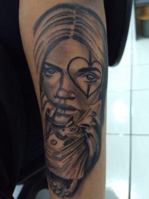#catrina #catrinatattoo #mexicantattoo #moneytattoo #tatuagemdolar #tatuagemdinheiro #rosto #tattoorosto #mulhertatuada