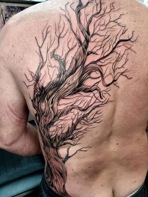 The first session on this freehand tree. Amazed at how well he sat through it all! Its definetely a BIG tree! #treetattoo #backtattoo #sidetattoo #freehand #tree #mothernature #mothernaturetattoo #twistedtree #deadtree #firstsession #inkeeze #beast #pnwtattoos #pnwtattooartist #pnw #pdxtattoo #pdx #pdxlife #pnwlife #backpiece #oregoncitylife #oregoncityartist #oregoncitytattooartist #vancouverwashington #battlegroundwa