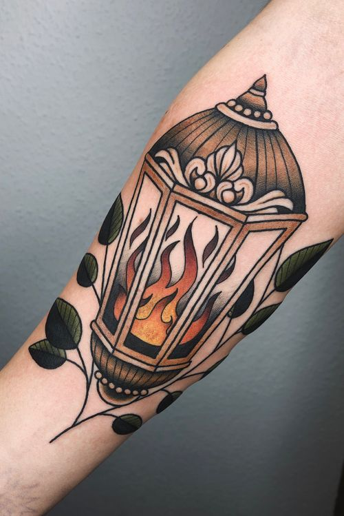#lantern #fire #traditional #traditionaltattoo