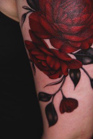 #redflowers #roses #peony #peonies