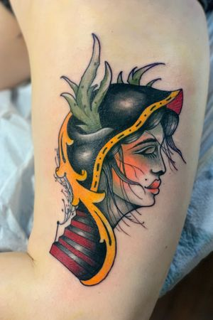 Neotraditonal lady #neotradtional #colortattoo