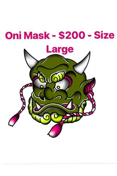 Oni Mask Tattoo Design - #oni #onidemon #mask #japanese #japanesetattoo #irezumi #irezumitattoo #tattooartist #tattooart #design #tattooaddict