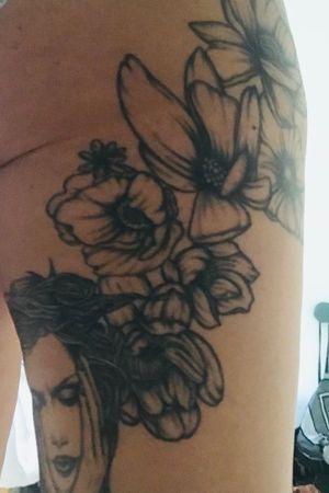 "Bag upper thigh ""my flowers"""