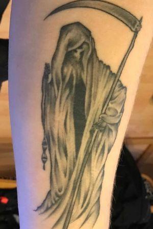 #reaper #reapertattoo #grimreaper #GrimReaperTattoo #blackandgrey